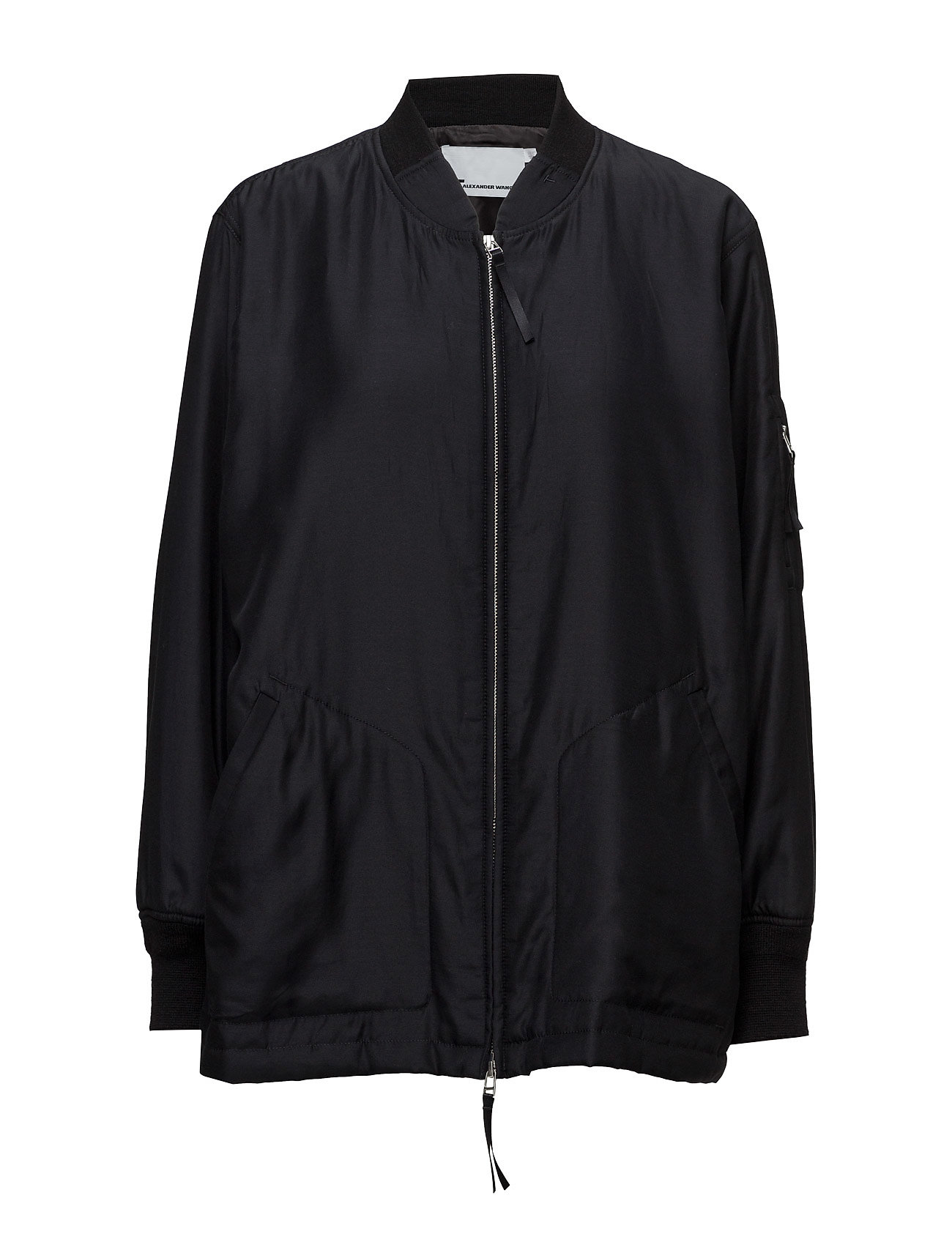 t by alexander wang Silk cotton habotai lightly lined oversized bomber fra boozt.com dk