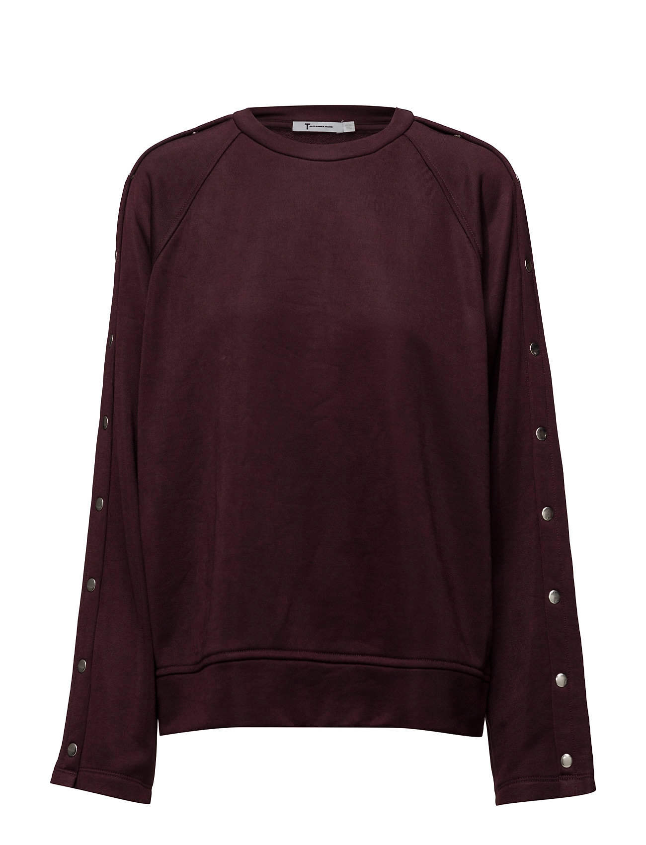 t by alexander wang – Sleek french terry crewneck sweatshirt w/ snaps fra boozt.com dk