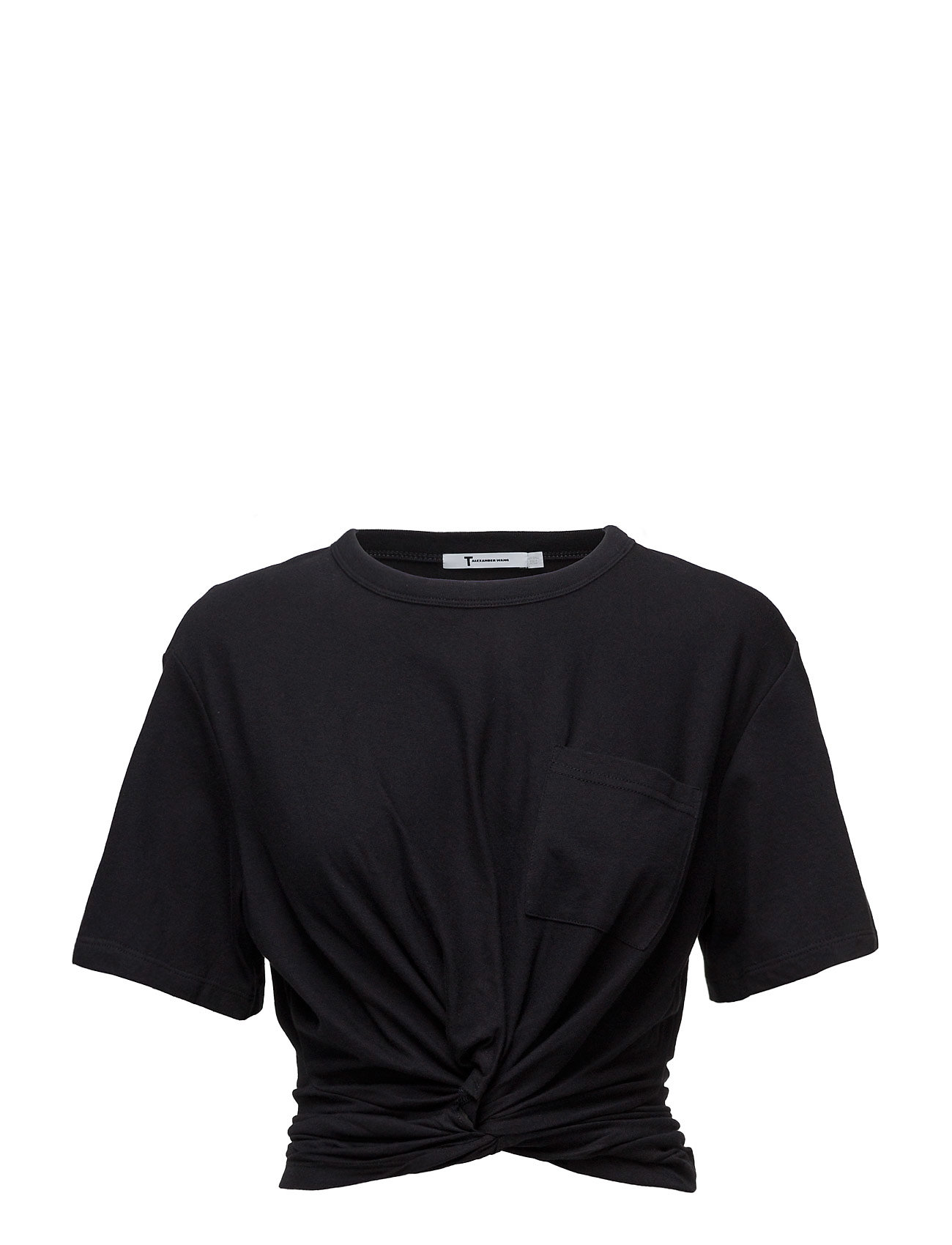 Cotton jersey front twistshort sleeve tee fra t by alexander wang på boozt.com dk