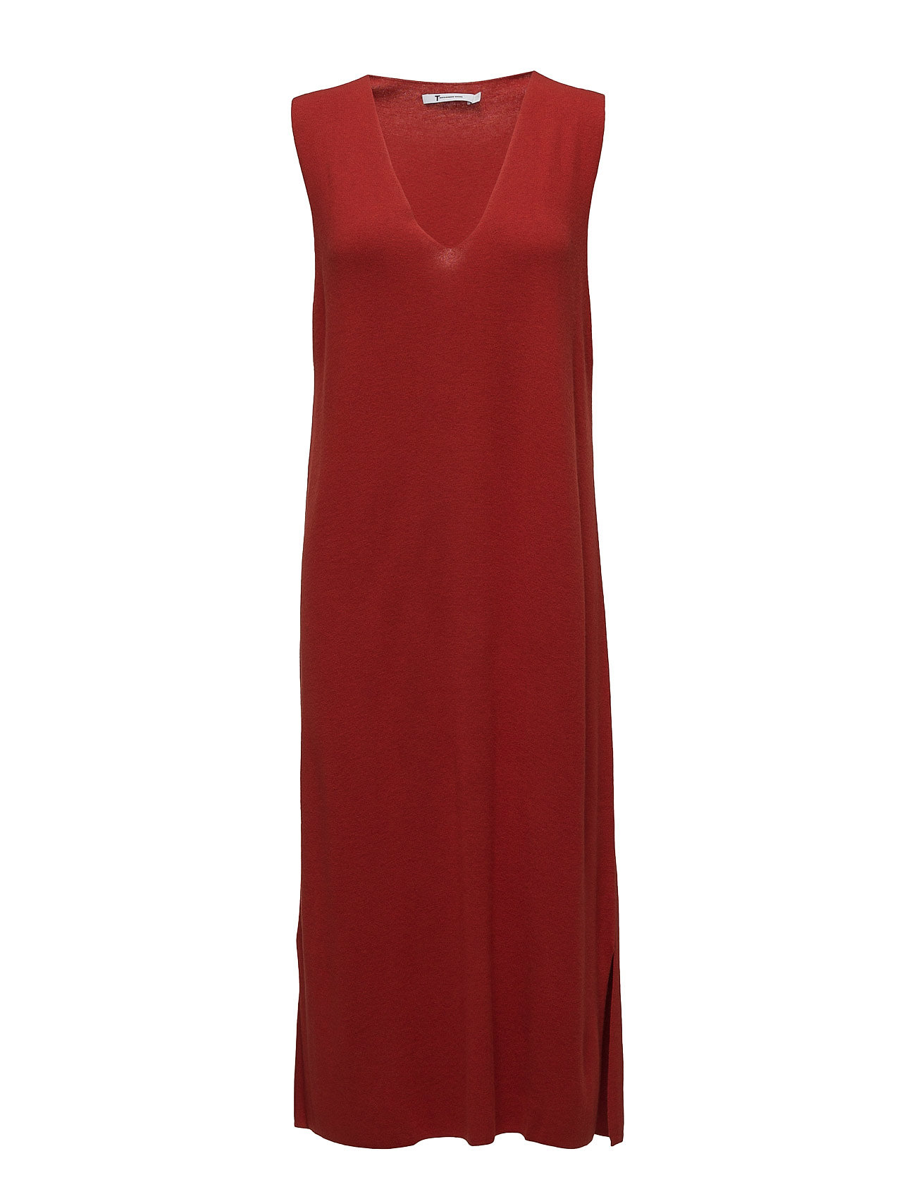 t by alexander wang Viscose blend half milanoslvls v-neck dress fra boozt.com dk