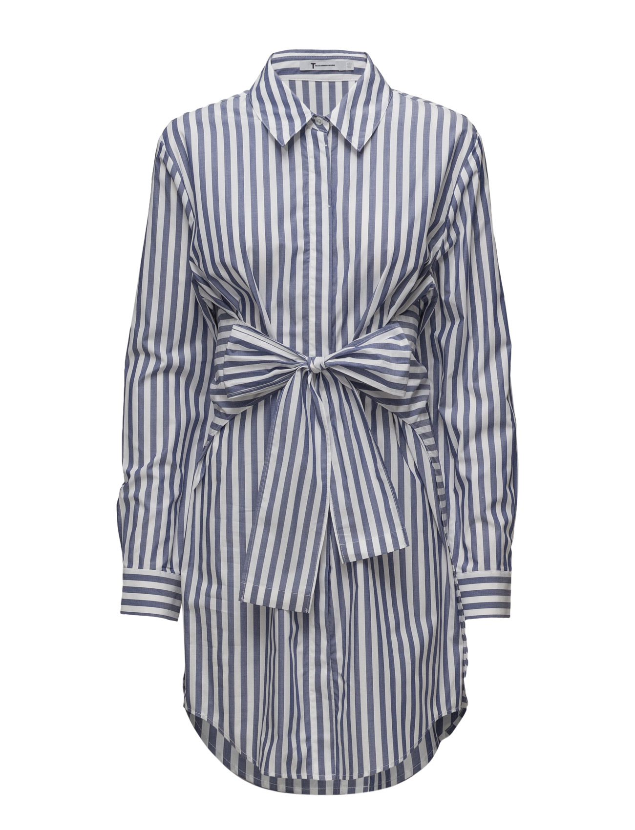 t by alexander wang – L/s tie front collared dress fra boozt.com dk