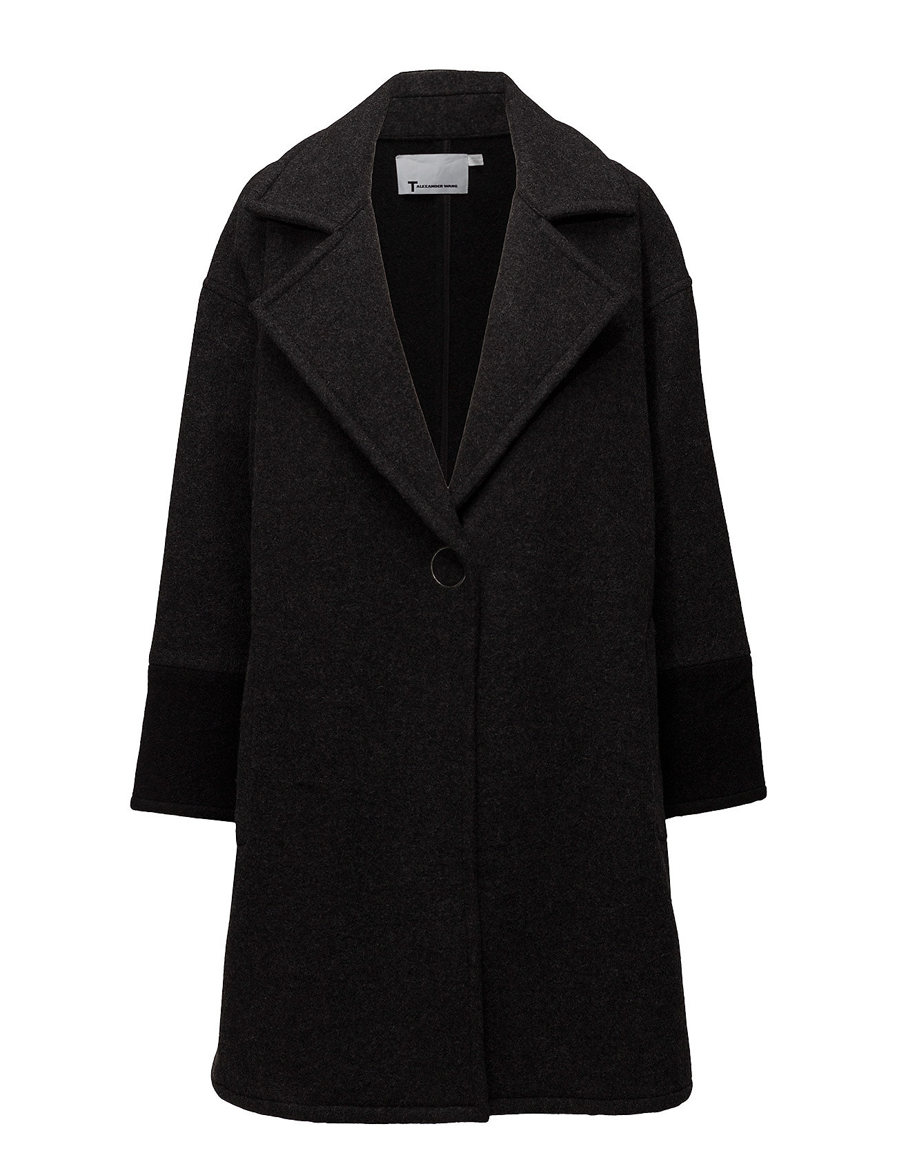 Plush coating coat with collar fra t by alexander wang fra boozt.com dk