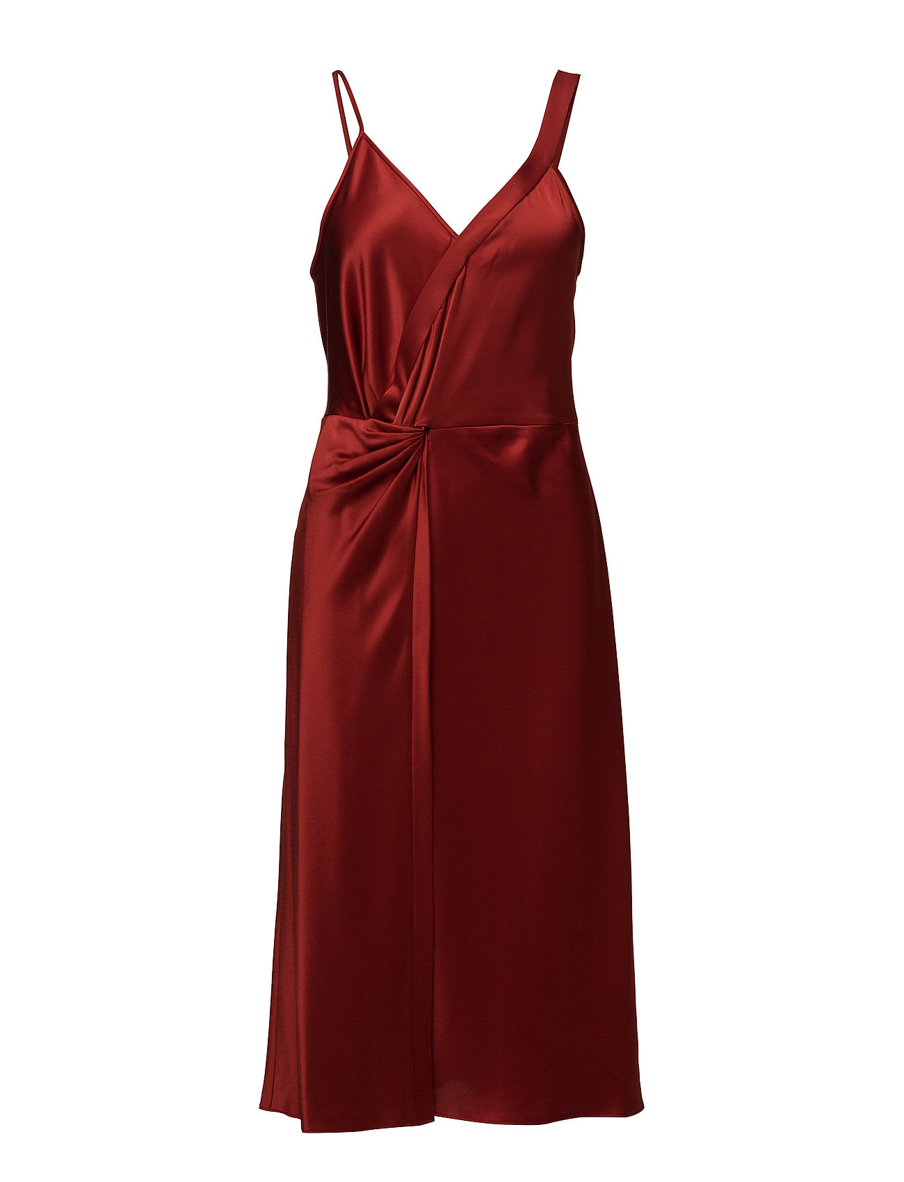 t by alexander wang Heavy draped satin slvlsknot front dress på boozt.com dk