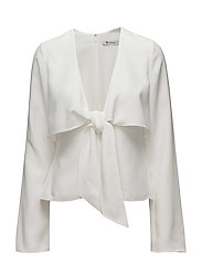 L/S TIE FRONT SHIRT - IVORY
