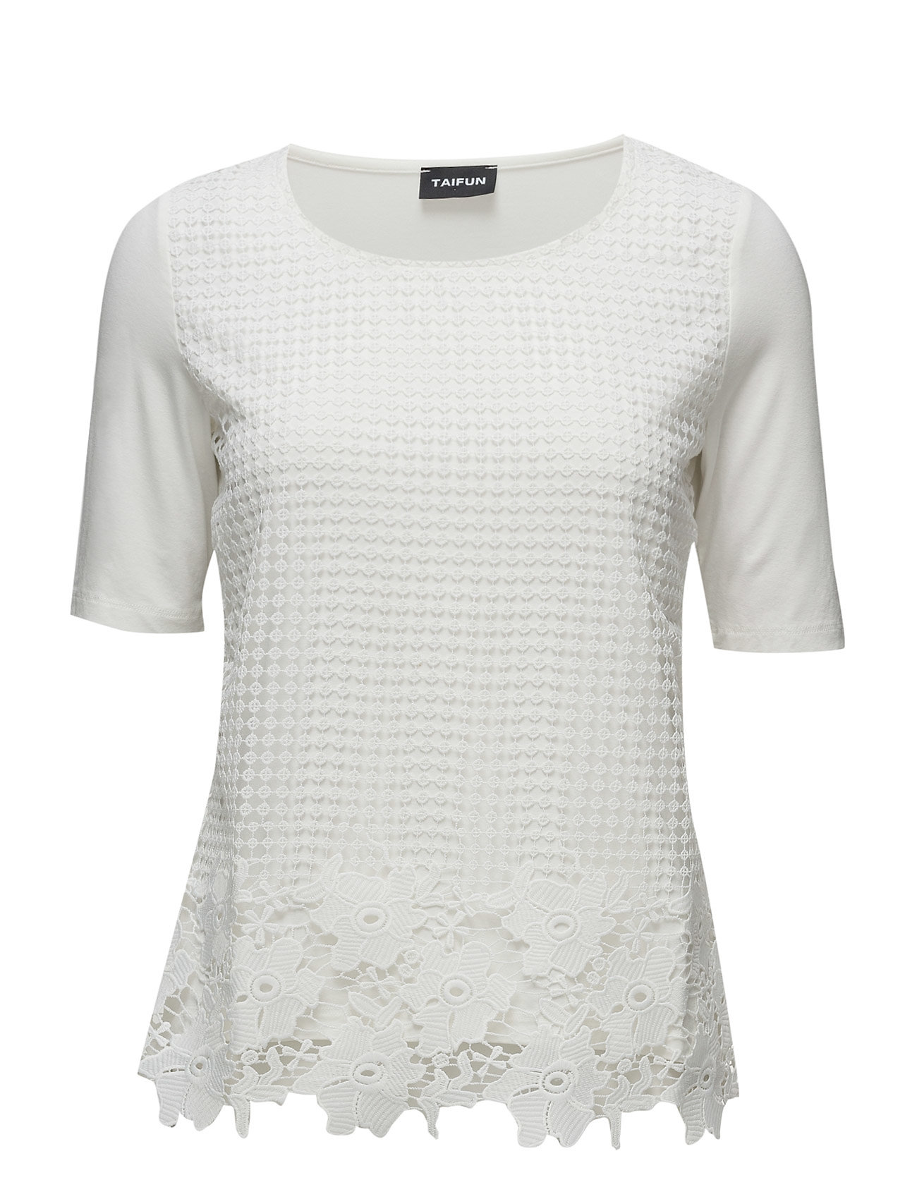 T-Shirt Short-Sleeve Taifun Kortærmede til Damer i Off-White