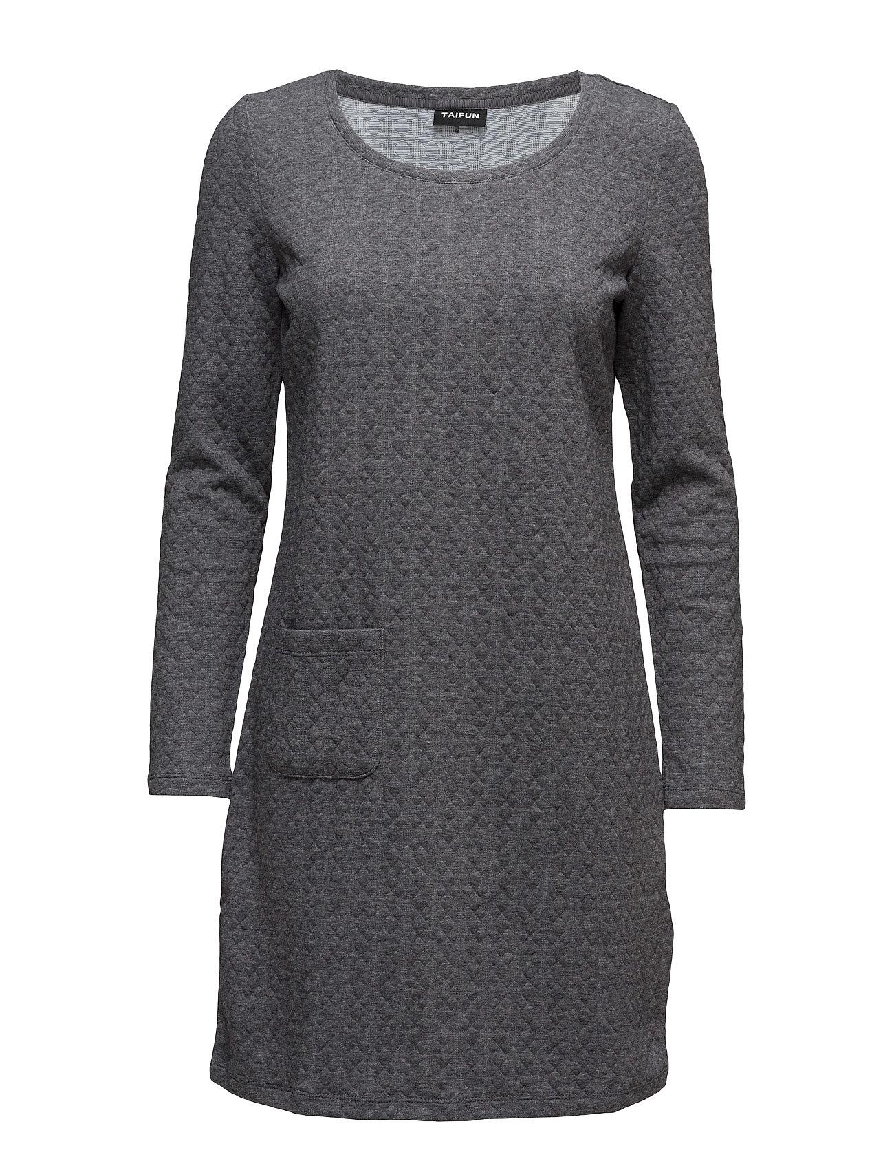 Dress knitted fabric fra taifun på boozt.com dk