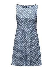 DRESS WOVEN FABRIC - SKY BLUE PRINT