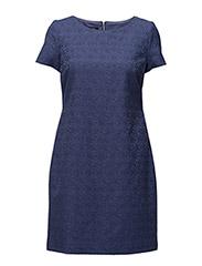 DRESS WOVEN FABRIC - SAPPHIRE BLUE PATTERNED