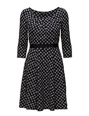 DRESS KNITTED FABRIC - NAVY PRINT