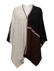 CAPE / PONCHO KNITWE - BLACK PATCH