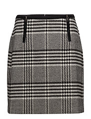 SKIRT SHORT WOVEN FA - BLACK CHECK