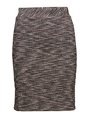SKIRT KNITWEAR - COGNAC PATTERNED