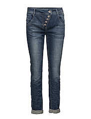 CROP TROUSERS JEANS - BLUE DENIM