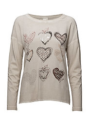 T-SHIRT LONG-SLEEVE - WHITE SAND PRINT