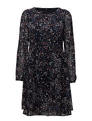 DRESS WOVEN FABRIC - NAVY PRINT