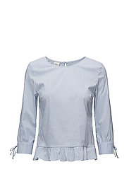 BLOUSE 3/4-SLEEVE - OFF-WHITE STRIPED