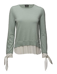 PULLOVER LONG-SLEEVE - BLUE HAZE PATCHED