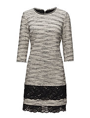 DRESS KNITTED FABRIC - WHITE SWAN PATTERNED