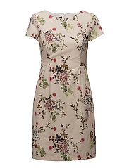 DRESS WOVEN FABRIC - MISTY ROSE PRINT