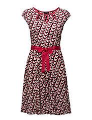 DRESS KNITTED FABRIC - RASPBERRY PINK PRINT