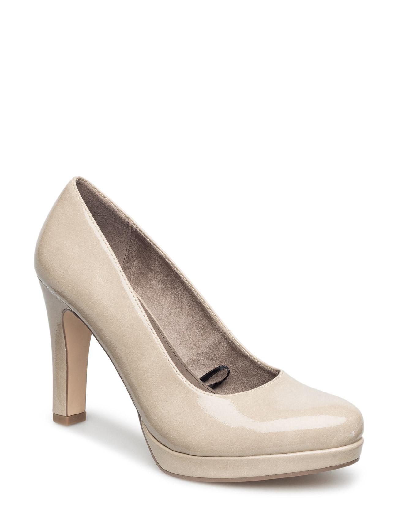 Woms Court Shoe Tamaris Stiletter til Kvinder i Cream patent