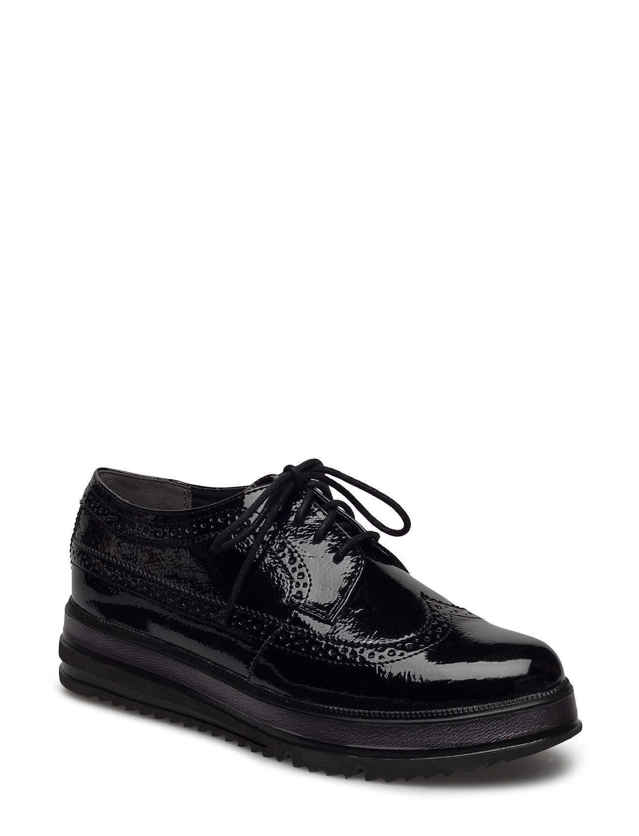 Woms Lace-Up Tamaris Flade sko til Damer i Sort