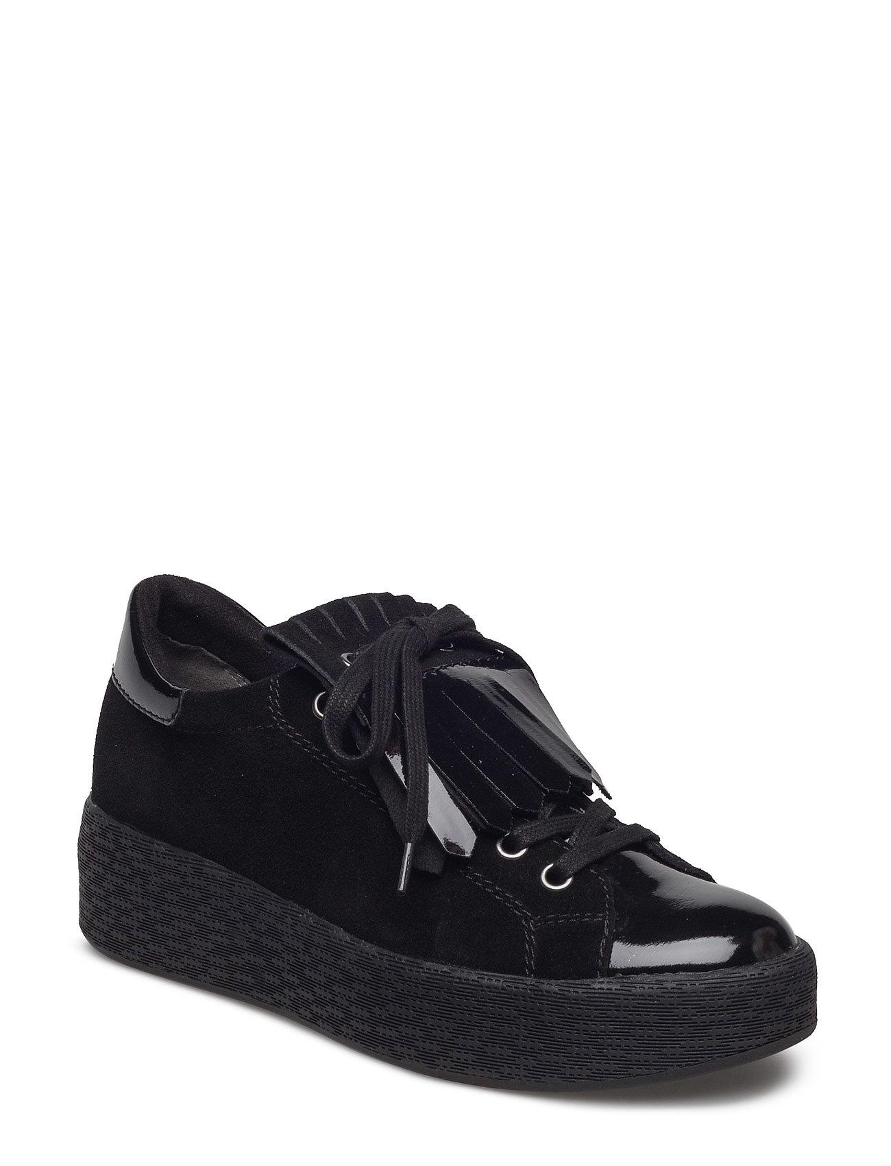 Woms Lace-Up Tamaris Sneakers til Damer i Sort