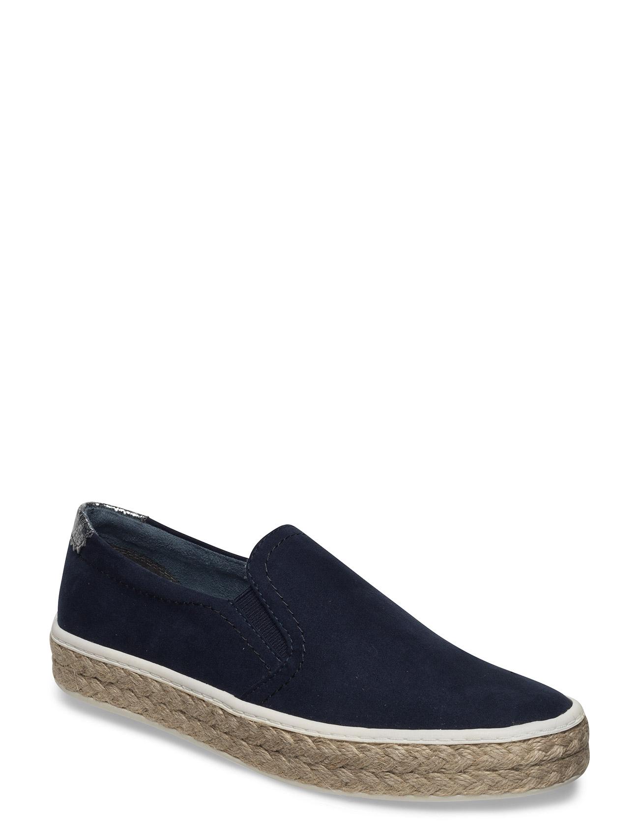 Woms Slip-On Tamaris Sneakers til Damer i Navy blå