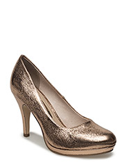Woms Court Shoe - Taggia - COPPER STRUCT.