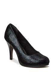 Woms Court Shoe - BLACK STRUCT.