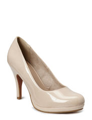 Woms Court Shoe - CREAM PATENT