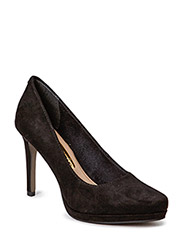 Woms Court Shoe - BLACK/GOLD