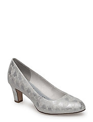 Woms Court Shoe - SILVER STRUCT.