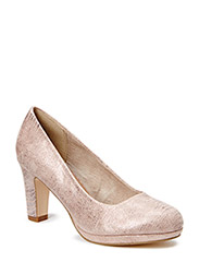 Woms Court Shoe - ROSE METALLIC