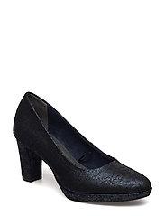 Woms Court Shoe - NAVY METALLIC