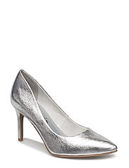 Woms Court Shoe - SILVER CRACK
