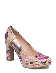 Woms Court Shoe - ROSE FLOWER