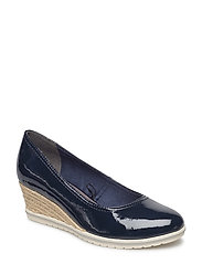 Woms Court Shoe - NAVY PATENT
