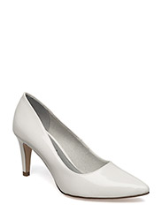 Woms Court Shoe - WHITE PATENT