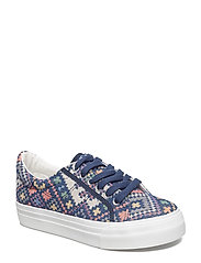 Woms Lace-up - BLUE ETHNO