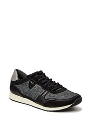 Woms Lace-up - BLK/WHT STRUCT