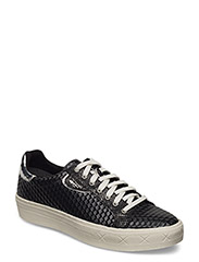 Woms Lace-up - BLACK STRUCT.