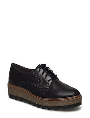 Woms Lace-up - Badam - BLACK/ANTHRA.