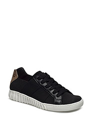 Woms Lace-up - BLACK/TAUPE