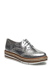 Woms Lace-up - Lepta - SILVER CRACK