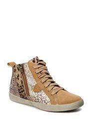 Woms Boots - CAMEL/LEO.COMB