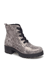Woms Boots - PEWTER METAL.