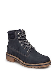 Woms Boots - Catser - NAVY NUBUC