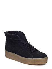Woms Boots - BLACK SUEDE