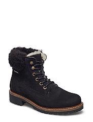 Woms Boots - BLACK/FUR